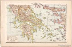 Görögország és  Nyugat - Oroszország térkép 1887, német