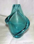 Retro Cseh Üveg Váza
