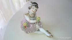Régi Volkstedt - Rudolstadt porcelán kislány