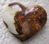 Csodálatos jáspis szív több színnel