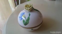 Herendi virágmintás bonbonier rózsával