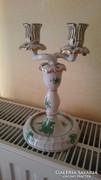 Herendi zöld Aponyi mintás gyertyatartó /lámpatest