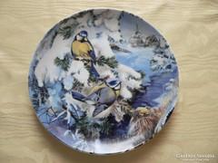 Porcelán madaras falitányér