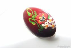 Kézzel festett bross, 2,5 cm-es gyönyörű.
