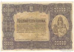 25000 korona 1922 II.