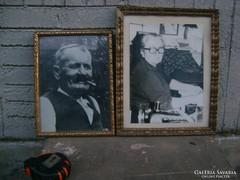 Régi üvegezett képkeret - két darab - egyik eladó