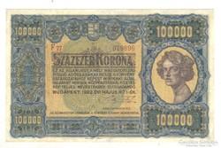 100000 korona 1923 II.