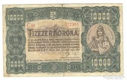 10000 korona 1923 II. Eredeti