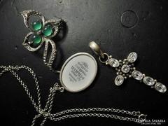 3 darab nagyméretű antik ezüst ékszer