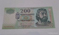 200 forint 2004-es,UNC,FA betűjeles ritka bankjegy!!
