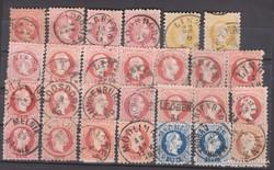 1867. Ausztria, Ferenc József lot., szép lebélyegzések.
