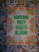 Minerva Nagy Hímzőalbum - 1976 - kézimunka lapok