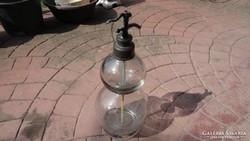 Kétgömbös antik szódásüveg , szifon