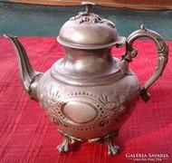 Különlegesen szép : Antik , ón teakiöntő !