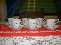 Porcelán kávés készlet - hat személyes