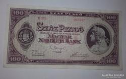 Száz pengő 1945-ös ropogós bankjegy!