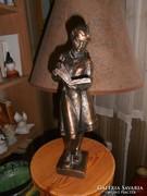 Olcsai Kiss Zoltán bronzírozott szobra