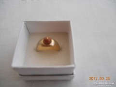 Régi Jelzett Aranyozott Gyűrű