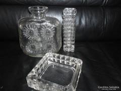 Retro üveg vázák, hamutartó