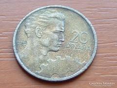 JUGOSZLÁVIA 20 DINÁR 1955