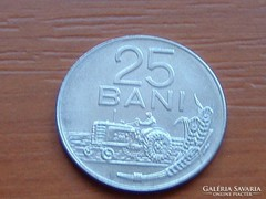 ROMÁNIA 25 BANI 1966 TRAKTOR