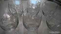 5 garnitúra ólomkristály pohár készlet, hibátlan