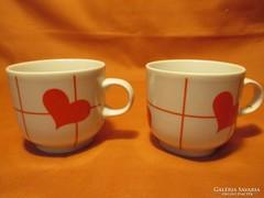 Retro Alföldi szívecskés kávés csészék, csésze