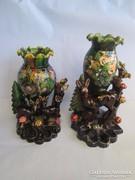 2 db antik  talán a multszázad elejéröl  kölönleges váza pár
