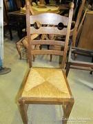 4db gyékény fonatos szék
