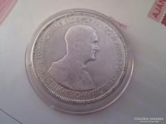 1930 Horthy ezüst 5 pengő szép,gyengén hajas kapszulában II.