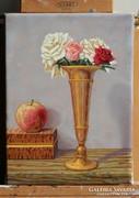 Lamoling Rózsák a rézvázában