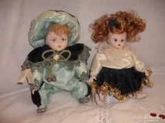 Capodimonte  porcelán certifikált  babák