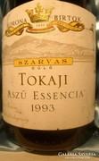 1993-as évjáratú Tokaji Aszúeszencia a királyi birtokról.
