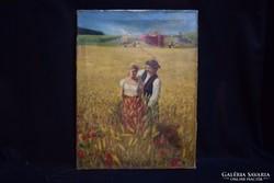 Forgács Ferenc: Olaj-vászon festmény (gs0500)