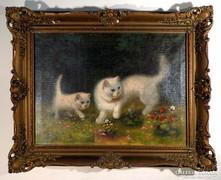 "Boleradszky Benő (1885- ) "" Angóra cicák """