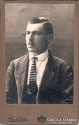 Régi portré fotó, vizitkártya - Beck Ödön - cca. 1900