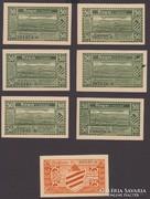 1921. 25+6x50Pf.2xKompl.Hoyn Anh.