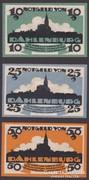 1920. Dahlenburg, 10-25-50 Pfennig, Geldschein set.