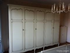 Chippendél barokk fehér komplett hálószoba bútor