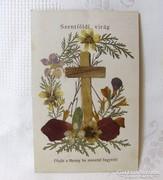 Régi Szentkép Szentföldi Virág