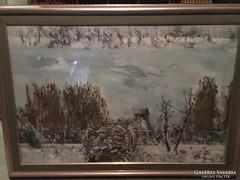 """Vecséri Sándor """"Téli horgászhely"""""""