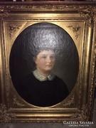 Bieder női portré
