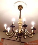 Eredeti Antik hibàtlan 8 àgu fa csilár, 100+ev, 120cmx90cm