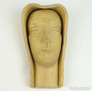 0E767 Régi Izsépy kerámia art deco Madonna fej