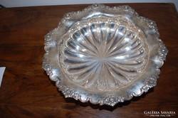Barokk Antik ezüst kínáló. Jelzett!