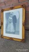 Katonai esküvői kép blondel keretben