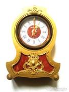 Arany színű kvarc kandalló óra