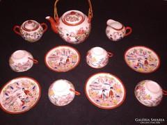 Japán kézzel festett antik porcelán teáskészlet szett
