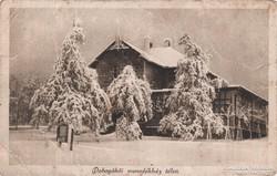 Dobogókői menedékház télen - Képeslap - 1929