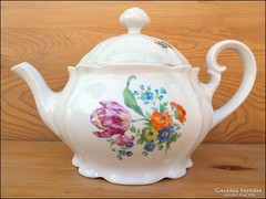Meisseni virágmintás teás kanna